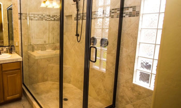 how tall should a shower door be